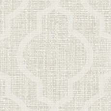 White Jute Quatrefoil Wallpaper