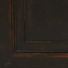 Timeworn Black (761): Black paint, antiqued, heavily worn edges. Traveller 4-piece Modular Bookcase
