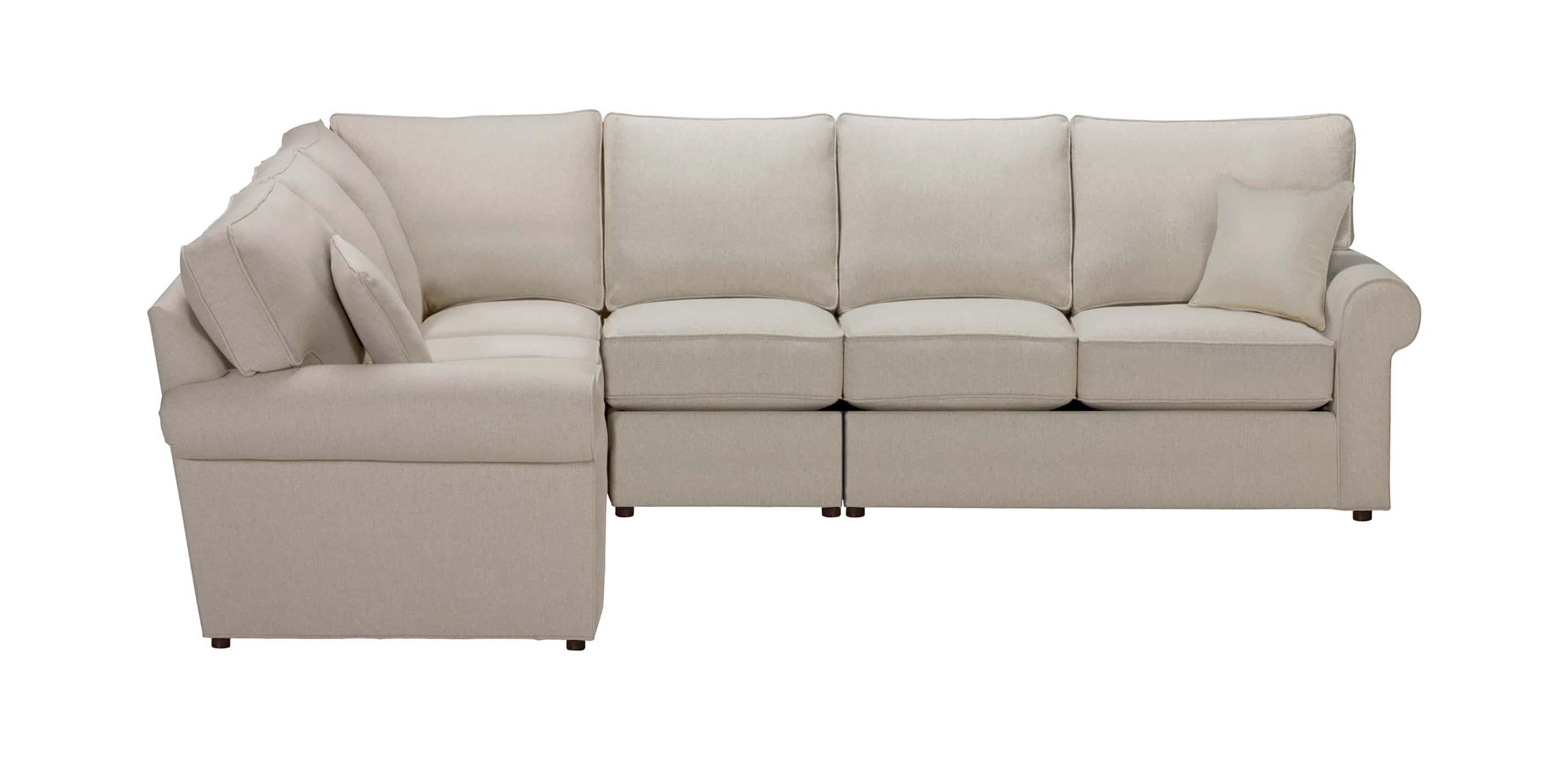 Retreat Roll-Arm Four Piece Sectional, Quick Ship ...