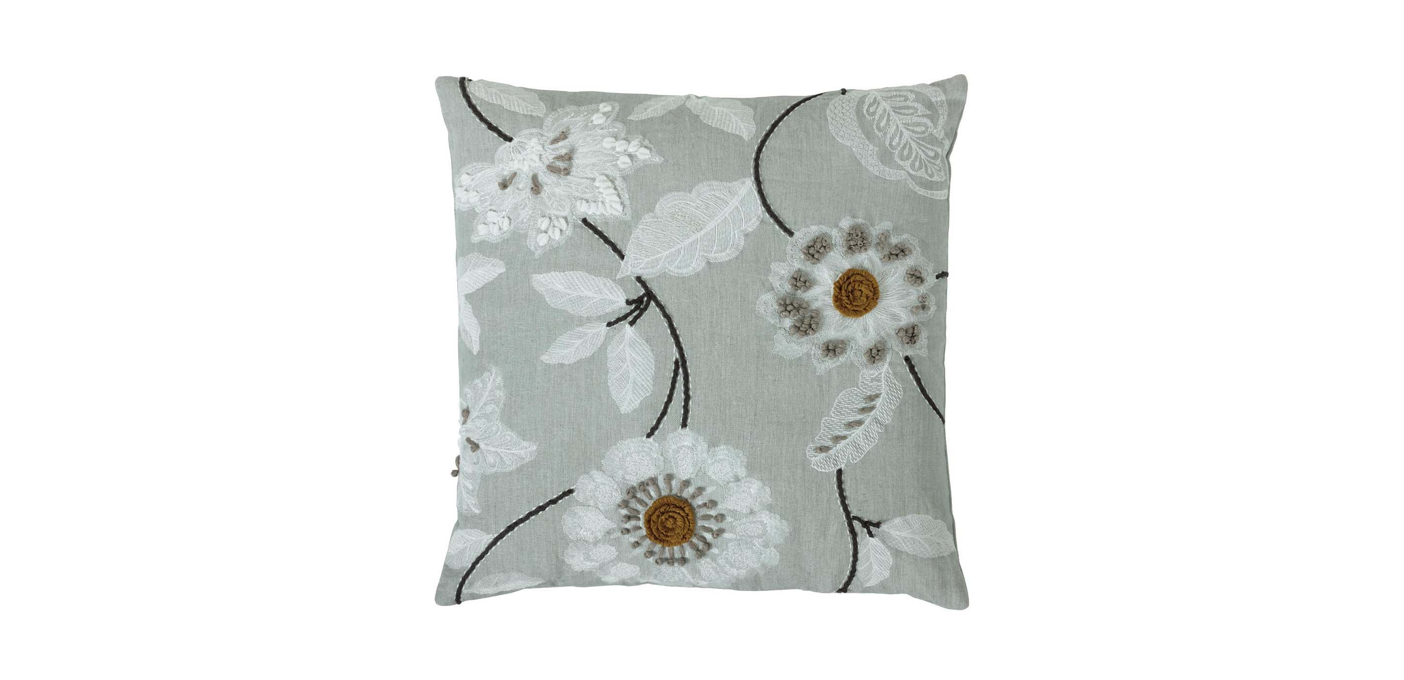 Embroidered Floral Throw Pillows Ethan Allen Throw Pillows Ethan Allen