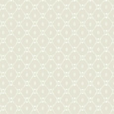 Beige Fretwork Ikat-Inspired Wallpaper