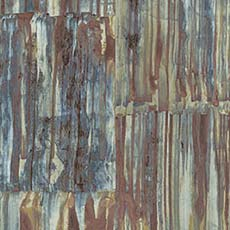 Multi-Color Patina Panels Metal Wallpaper