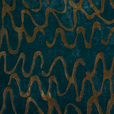 Aqua/Gold Ripple Pillow