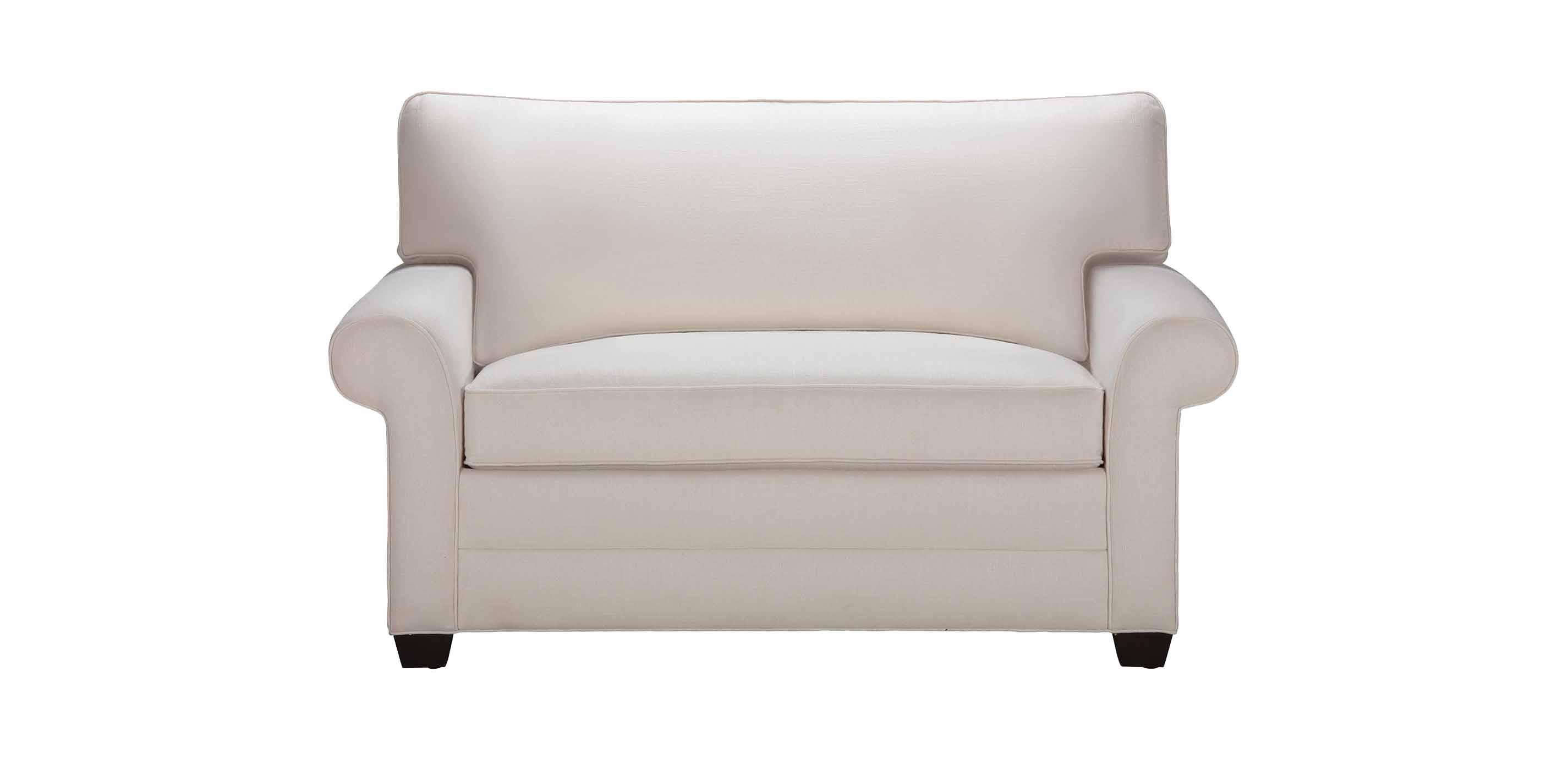 - Bennett Roll-Arm Chair-and-a-Half Twin Sleeper Ethan Allen