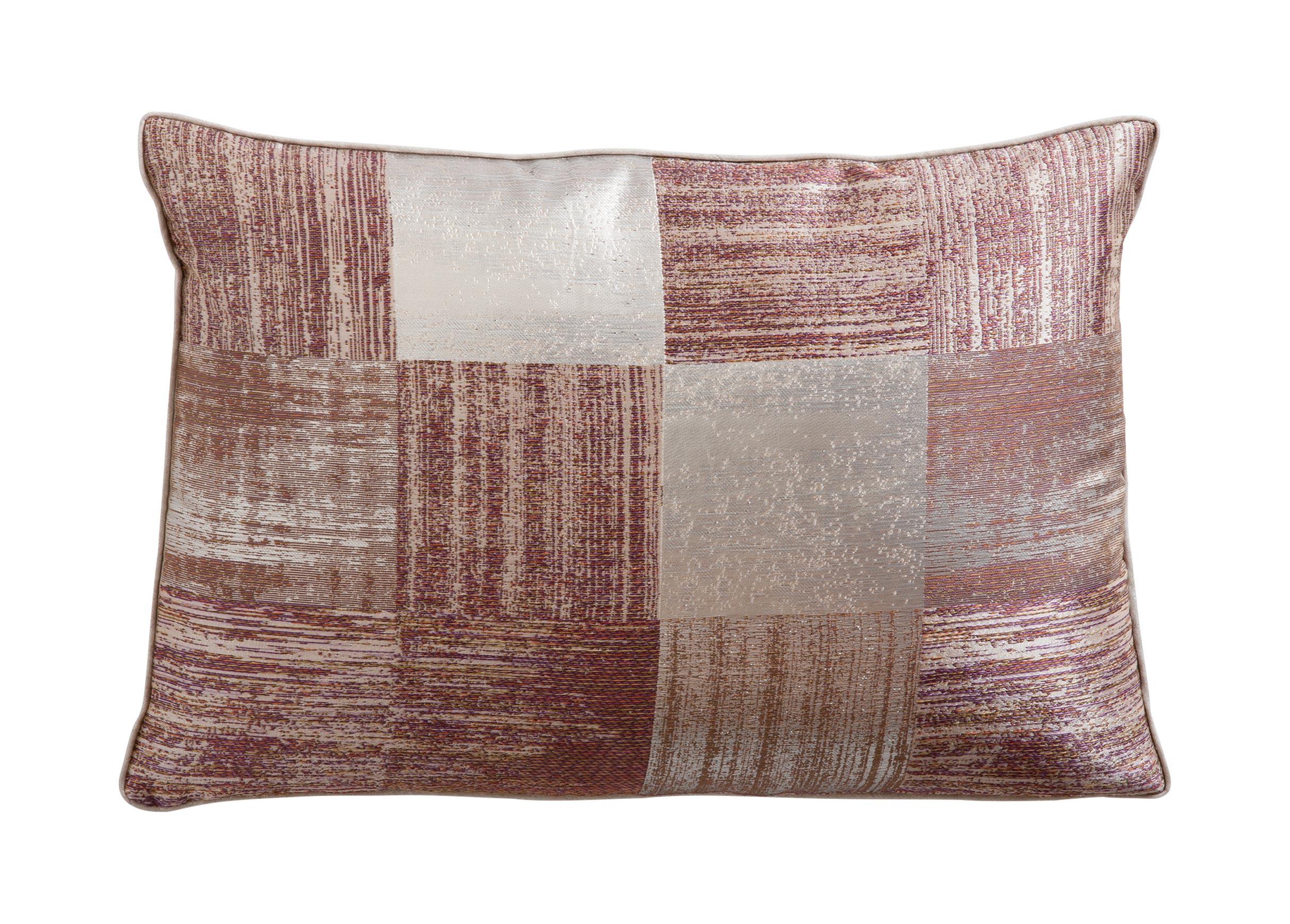 Metallic Check Lumbar Pillow Plaid Pattern Pillows