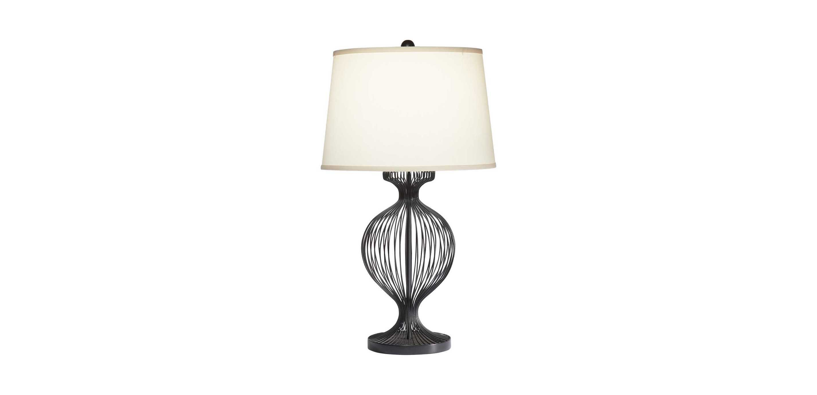 Kenzie Black Cage Table Lamp | TABLE LAMPS