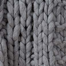 Gray Cross Cable Knit Throw