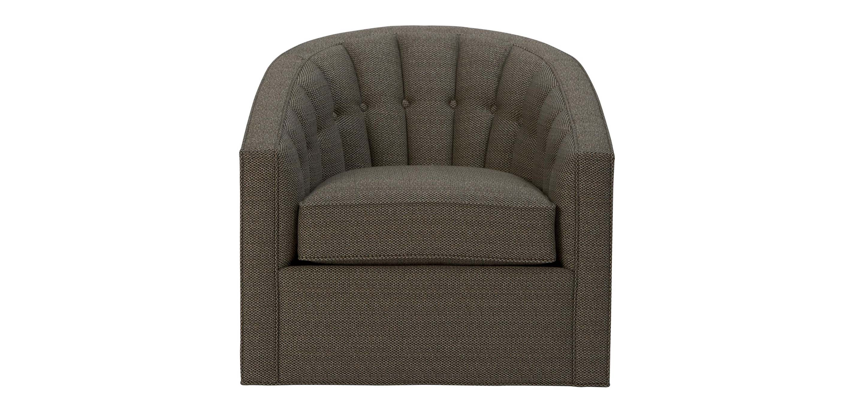 chairish tubbs and barrel swivel tuffed knapp product suede chair