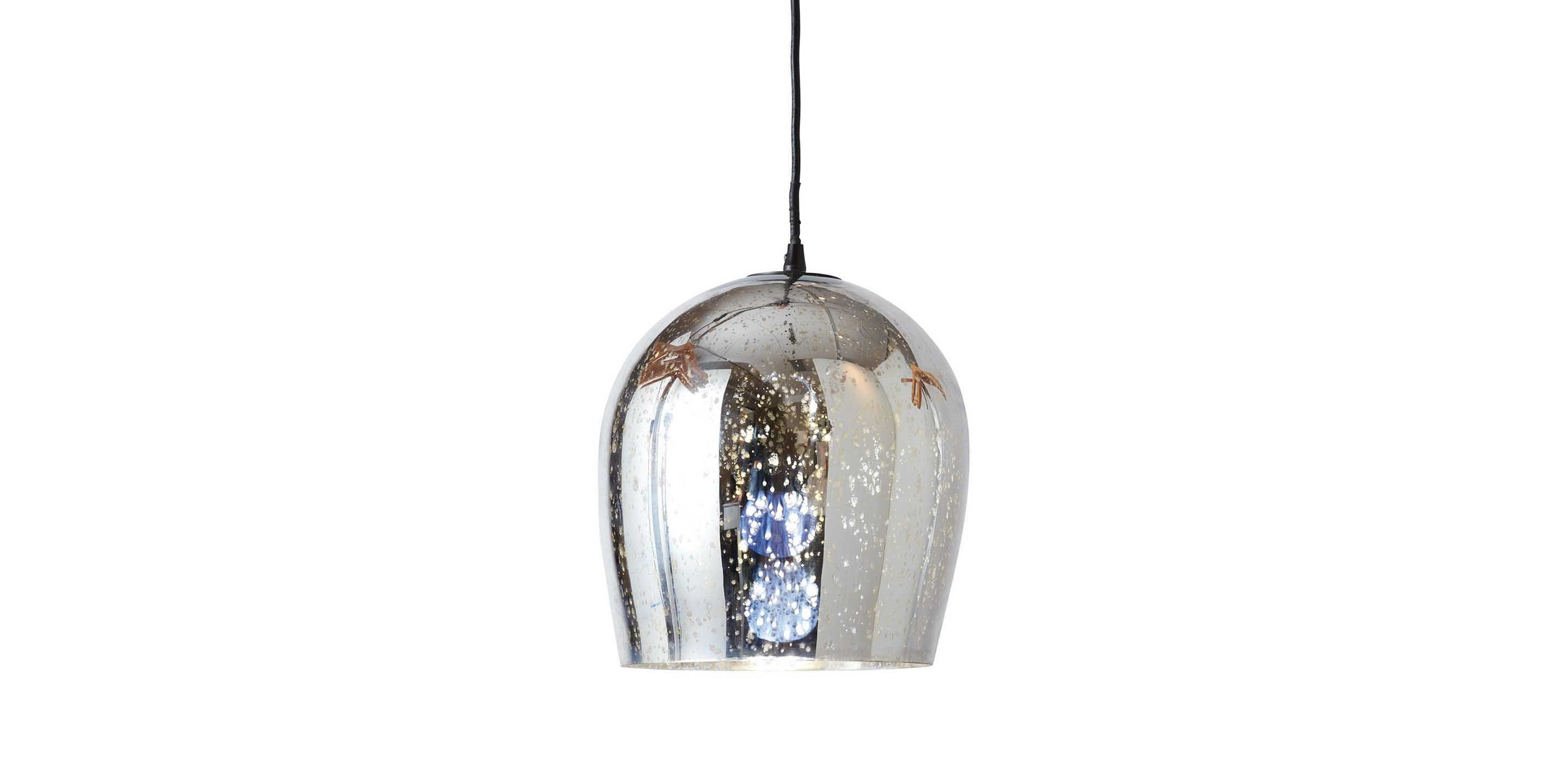 Farrah Dome Pendant Light Mercury Glass Look Ethan Allen