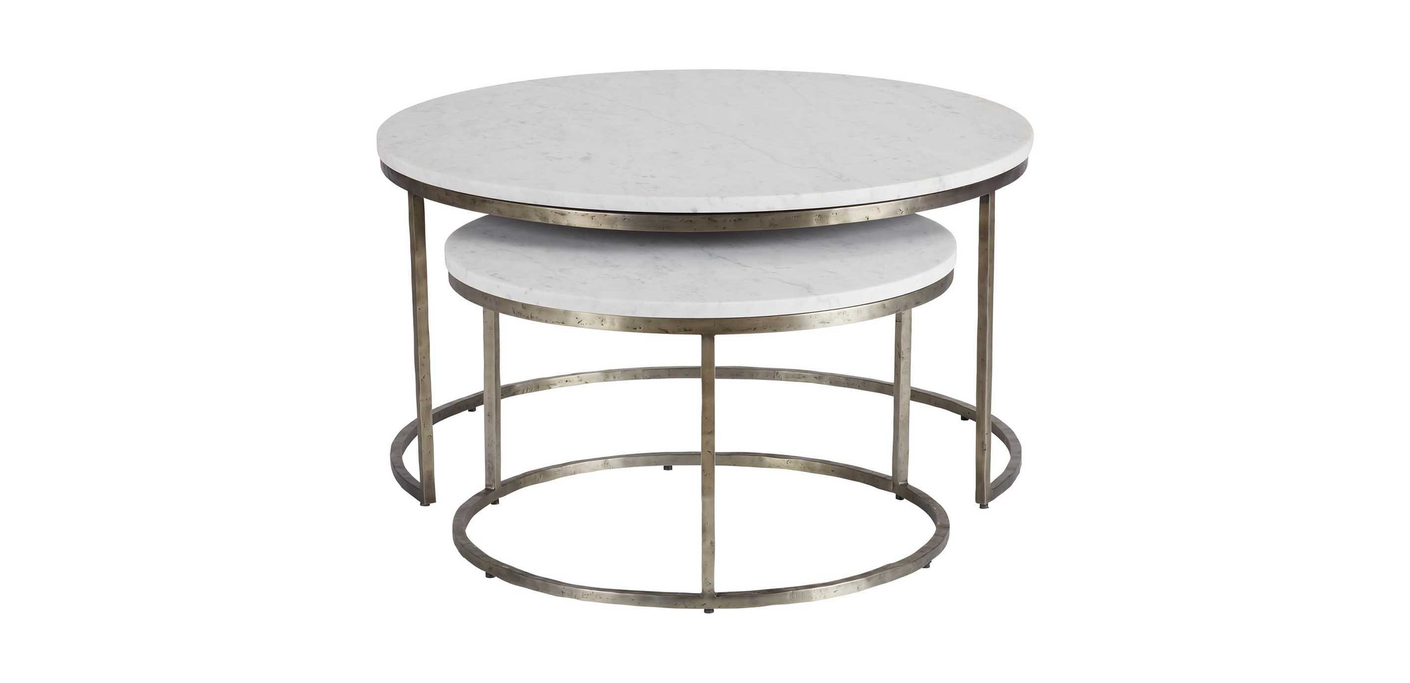 Picture of: Bayless Marble Top Coffee Table Nesting Table Ethan Allen