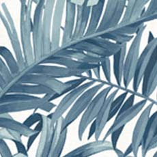 Navy Alfresco Palm Leaf Wallpaper