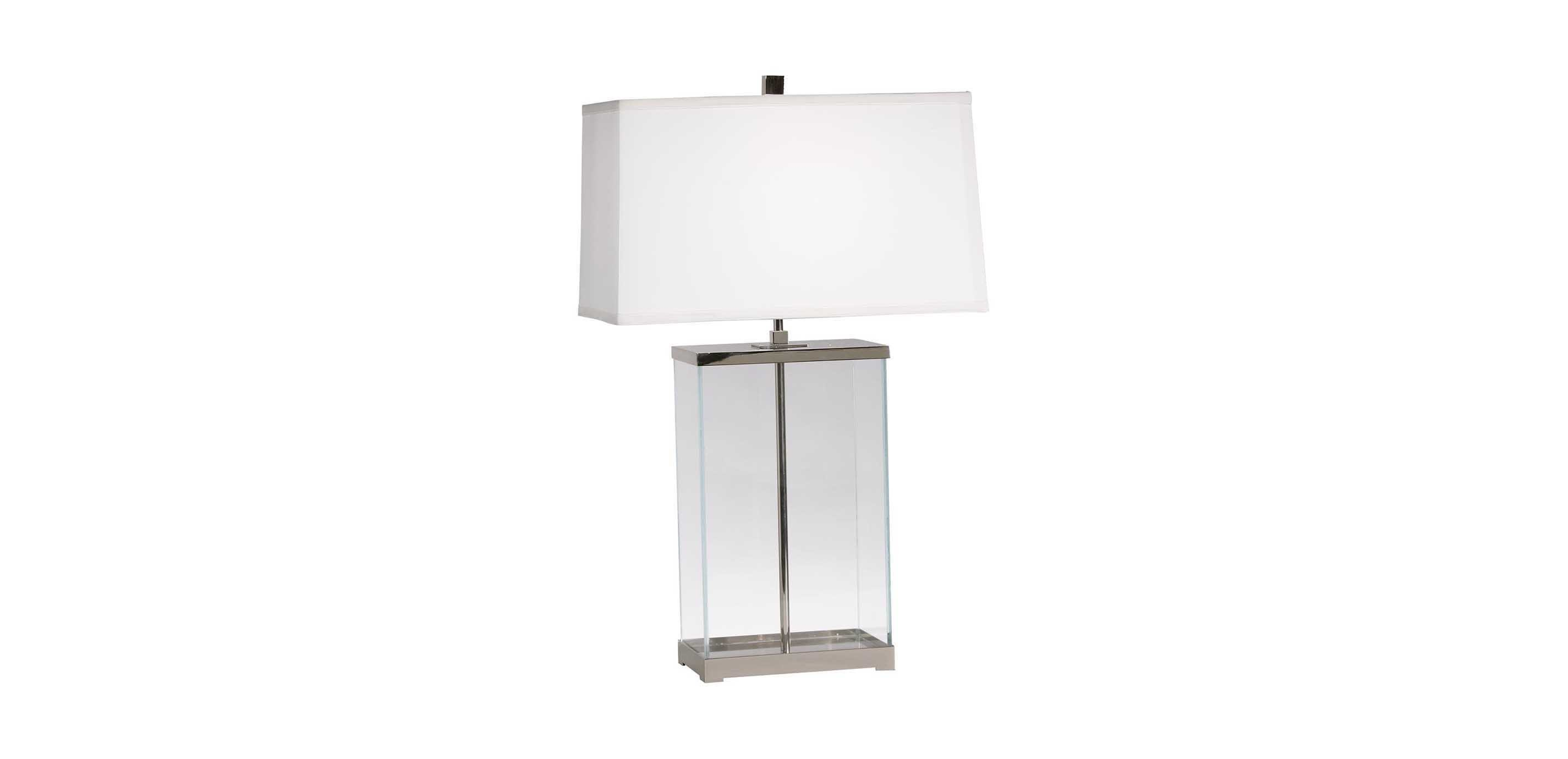 Rectangular Glass Table Lamp TABLE LAMPS