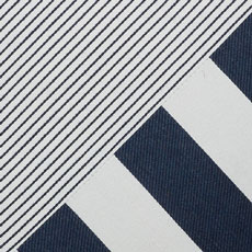 Navy Outdoor Stripe Pillow