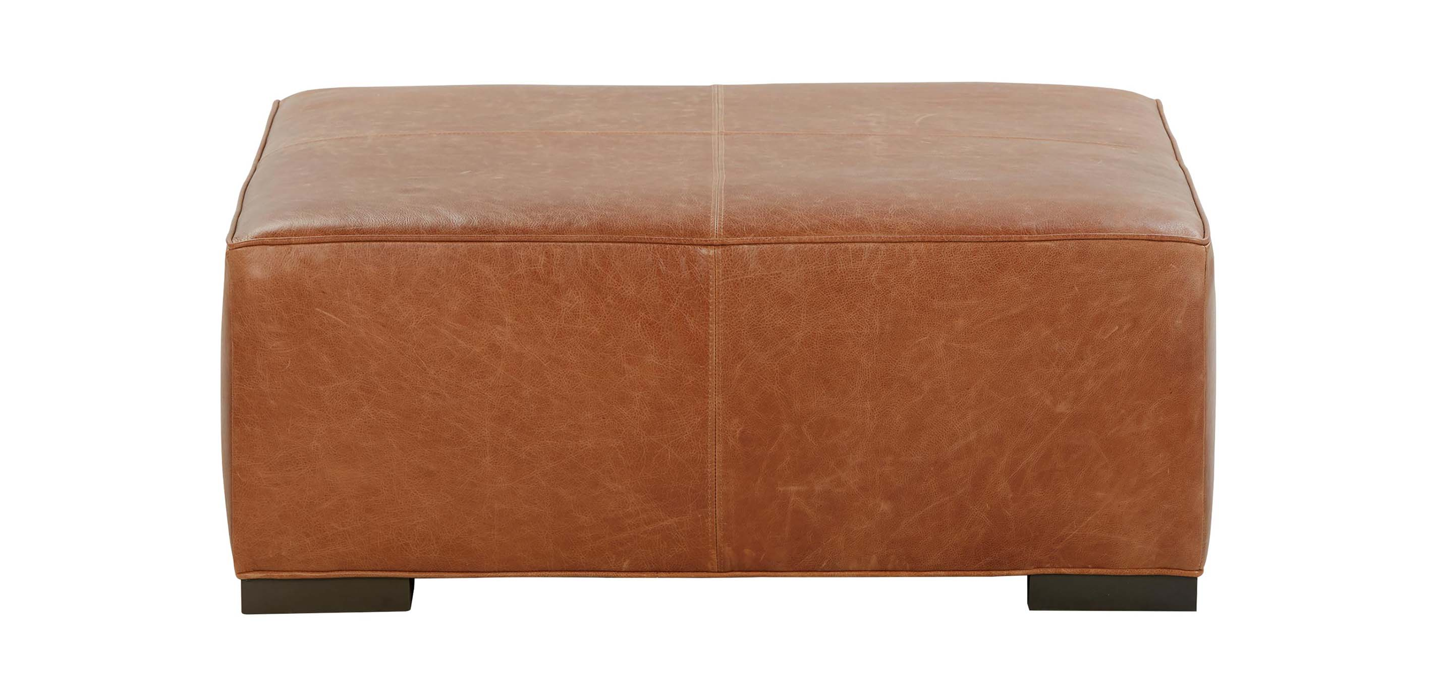 Miles Leather Cocktail Ottomans Ottomans Amp Benches