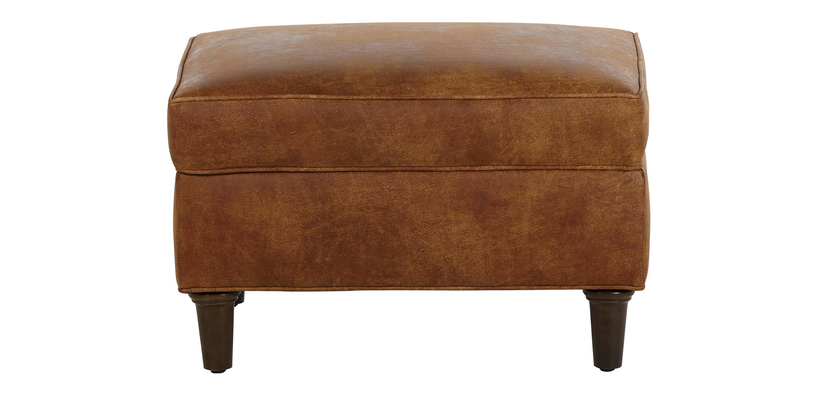 Malone Leather Ottoman | Ottomans & Benches | Ethan Allen