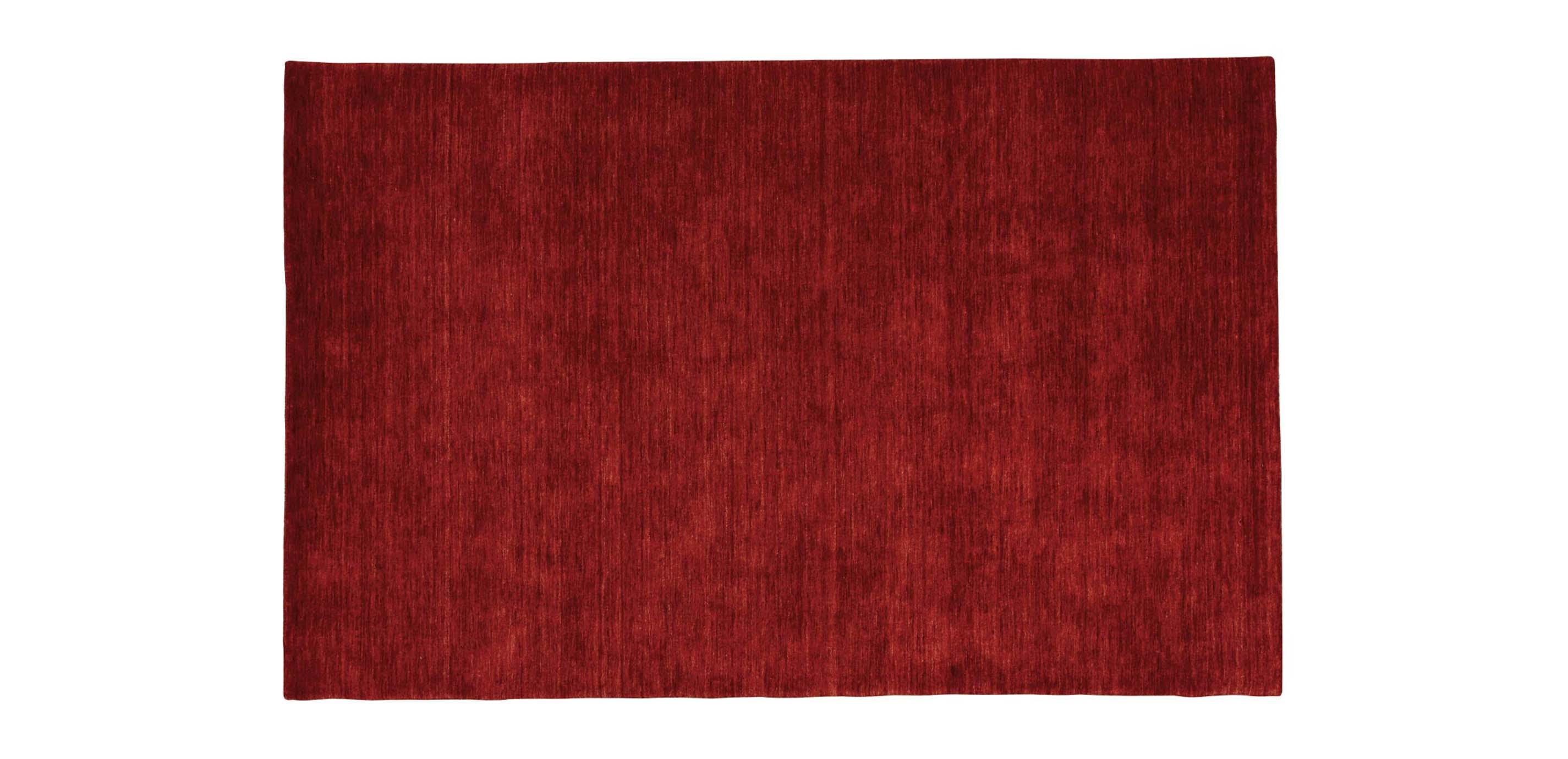 Images Loomed Wool Rug Garnet Red Large Gray