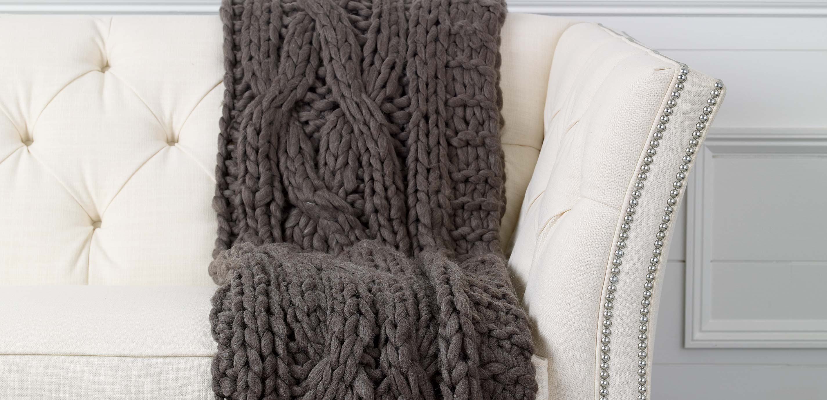 images cross cable knit throw dark brown largegray - Cable Knit Throw