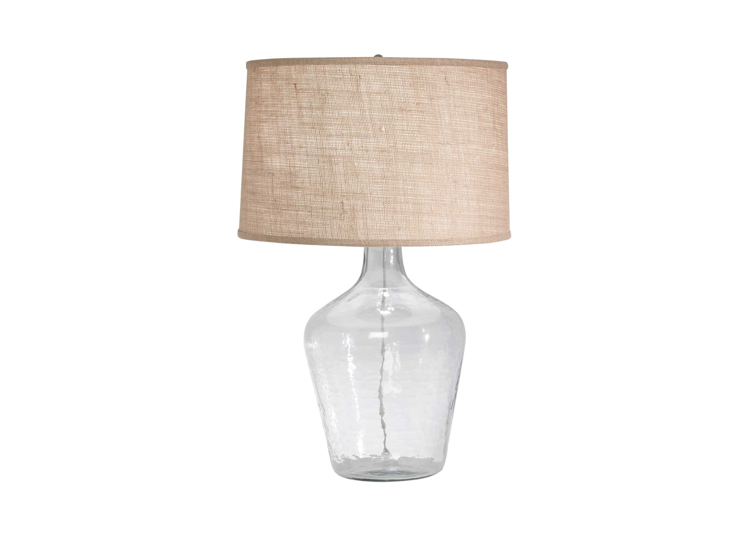 Glass plum jar table lamp table lamps images glass plum jar table lamp largegray geotapseo Gallery
