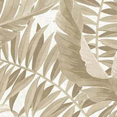 Taupe Alfresco Palm Leaf Wallpaper