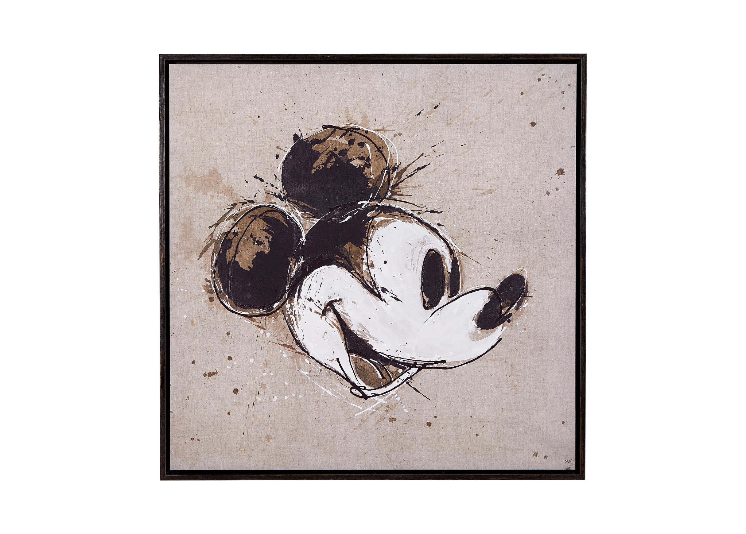 Ethan Allen Wall Art abstract mickey   art