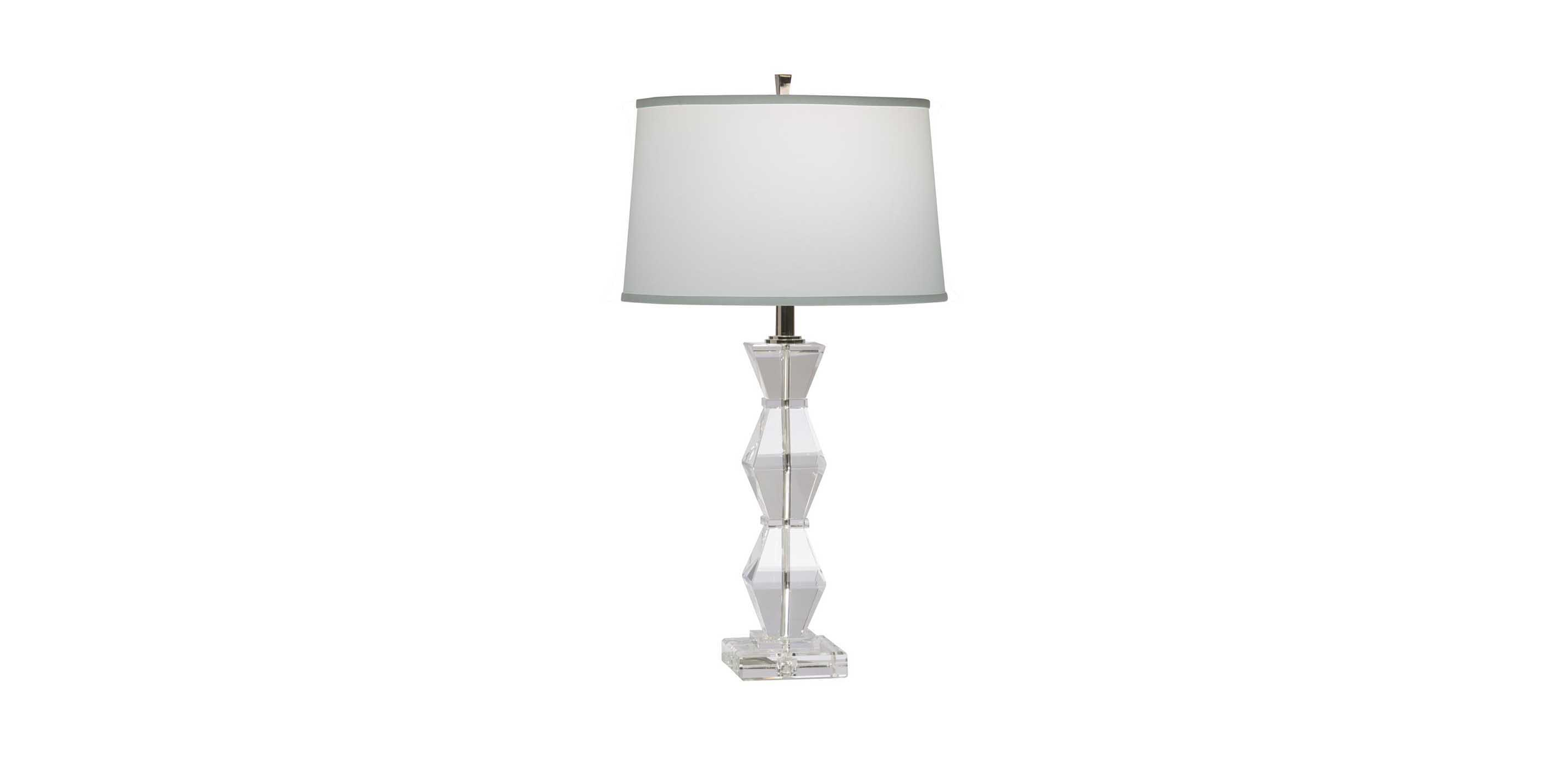 Images Geometric Crystal Table Lamp , , Large_gray