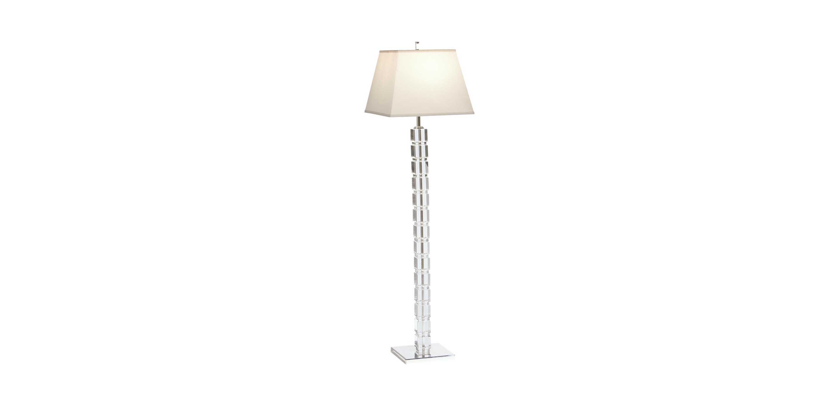 Crystal blocks floor lamp floor lamps ethan allen images null mozeypictures Choice Image