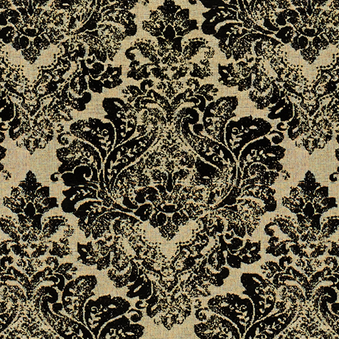 Gaia Black Fabric by the Yard ,  , large