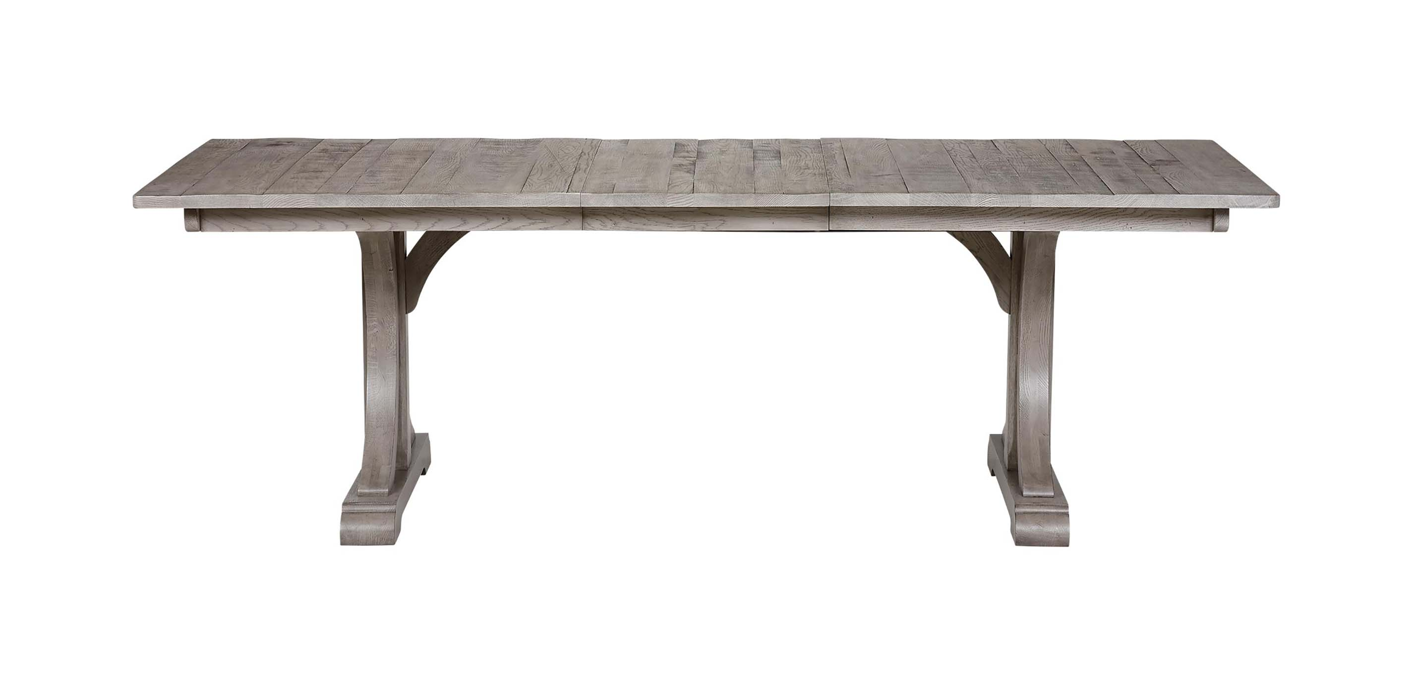Corin Rough Sawn Trestle Extension Dining Table , , Large ...