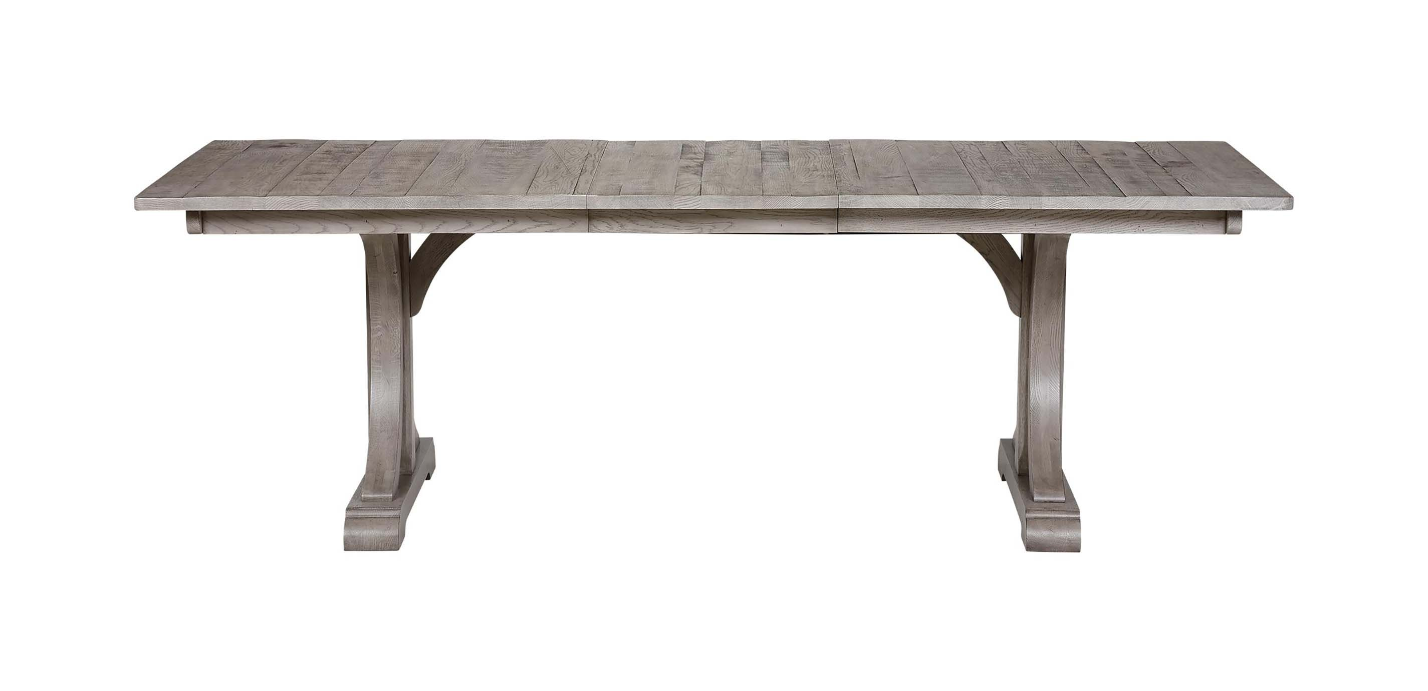 Corin extension trestle dining table dining tables for Extension dining table