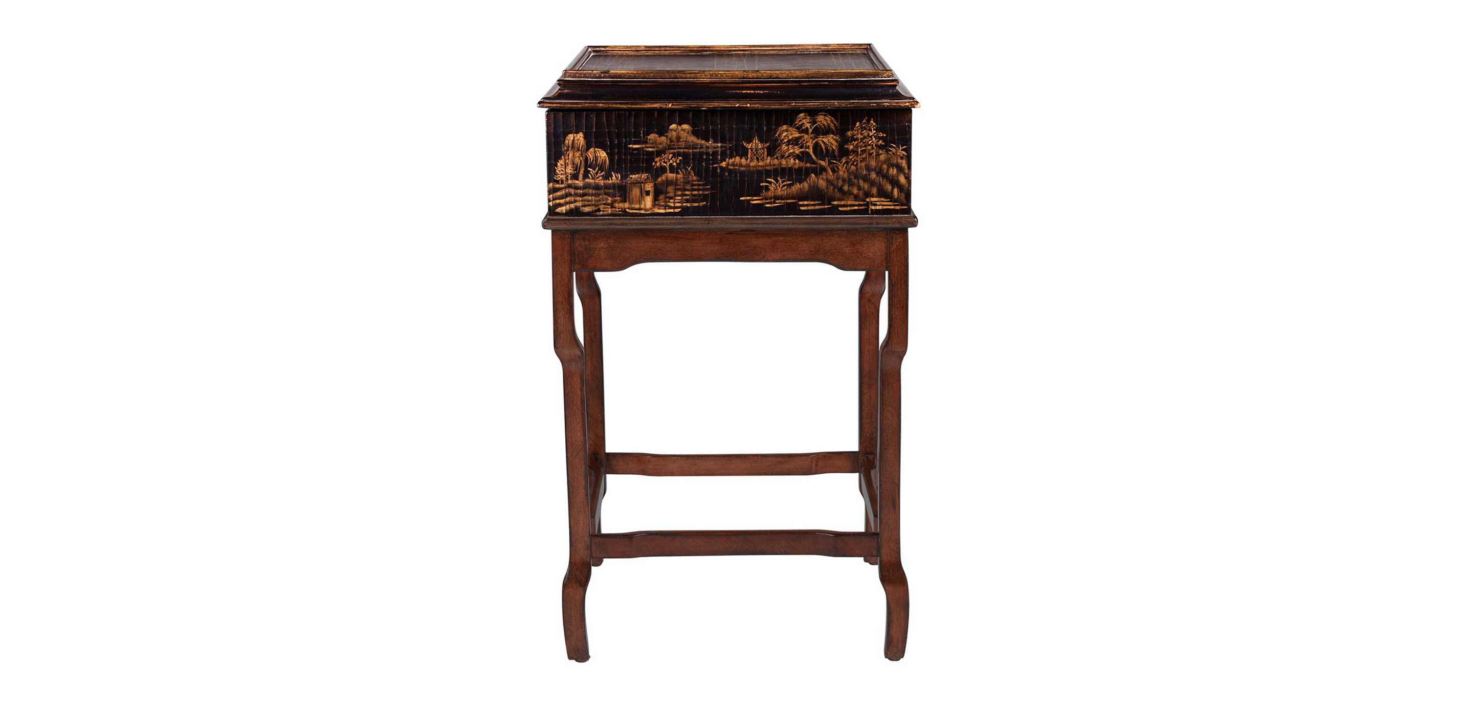 Images Lianne Chinoiserie Box on Stand     large grayLianne Chinoiserie Box on Stand   Accent Tables. Ethan Allen Living Room Accent Chairs. Home Design Ideas