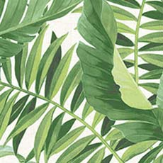 Green Alfresco Palm Leaf Wallpaper