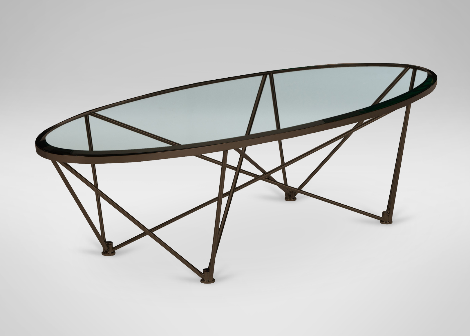 Images Kestral Oval Coffee Table, Vintage Steel , , Large_gray