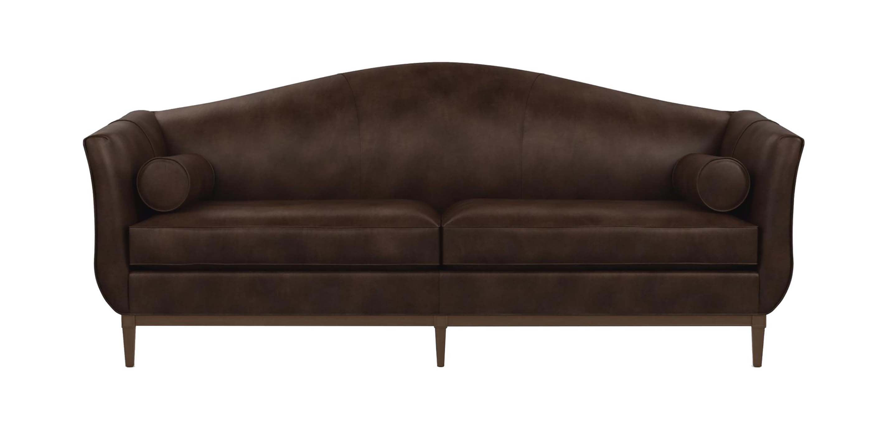 Audrey leather sofa the audrey collection ethan allen for Sofa en l liquidation