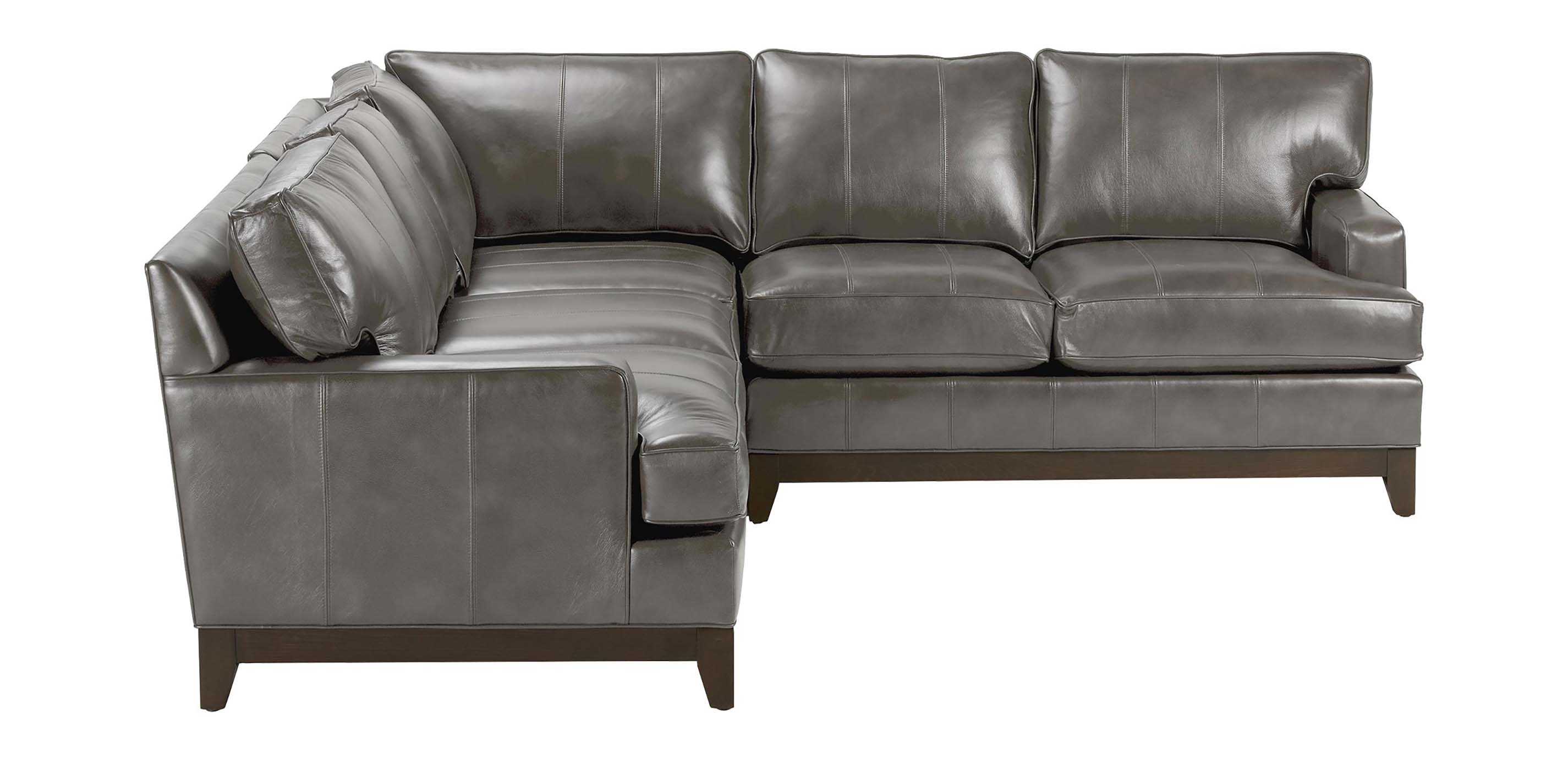 Arcata Three Piece Leather Sectional Quick Ship