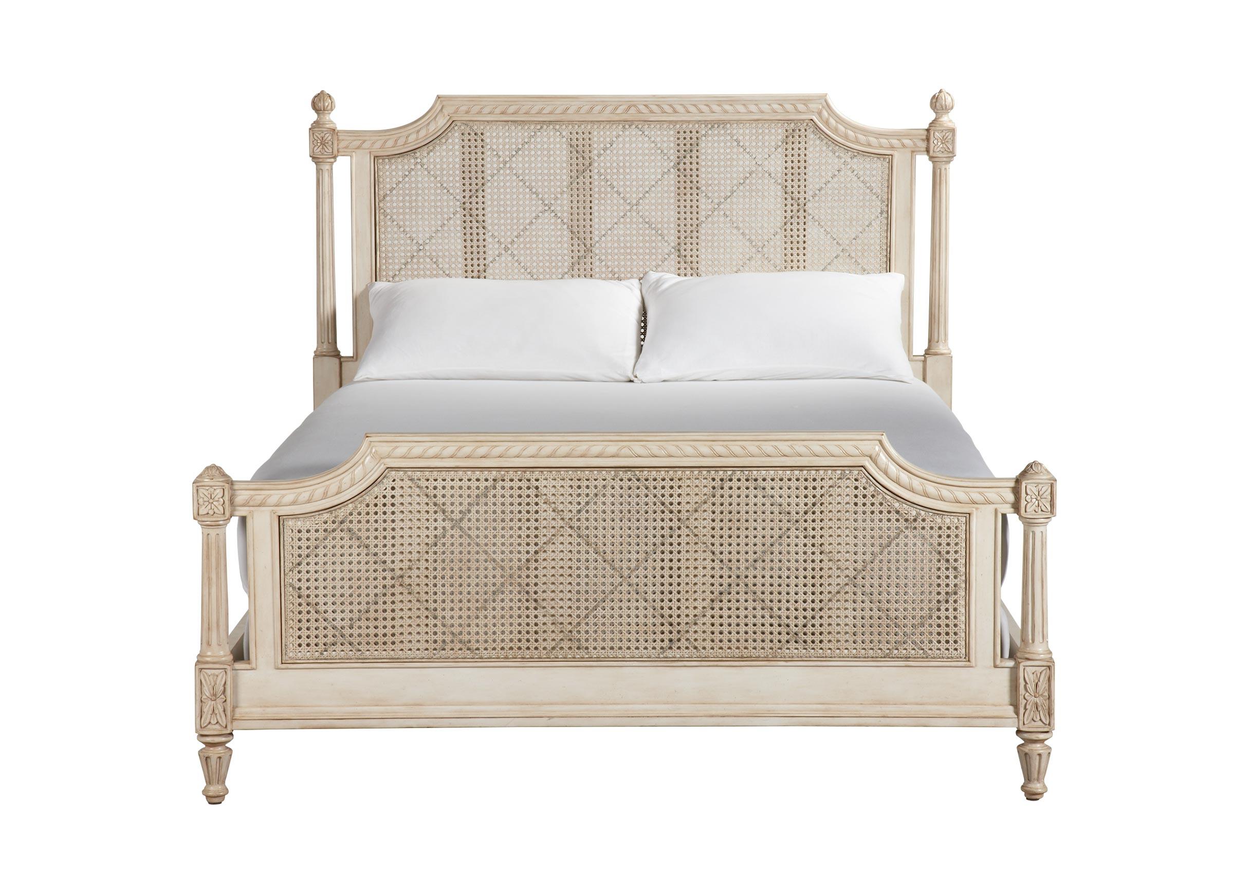 Elise bed vintage linen beds ethan allen for Ethan allen king size beds