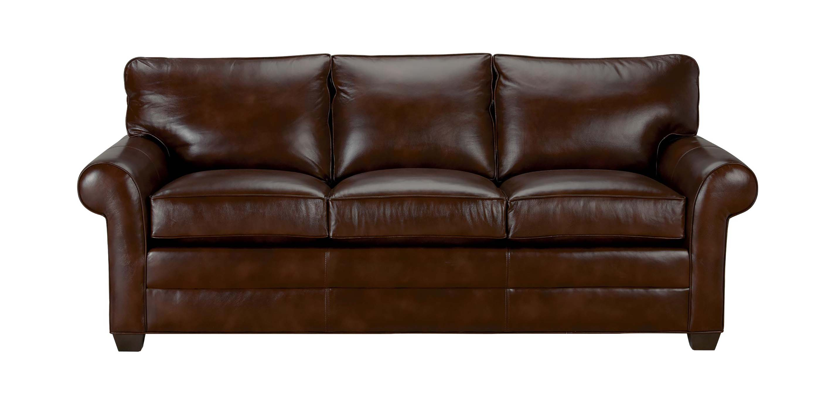 Bennett Roll Arm Leather Sofa Quick