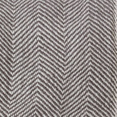 Brown/White Herringbone Knit Throw