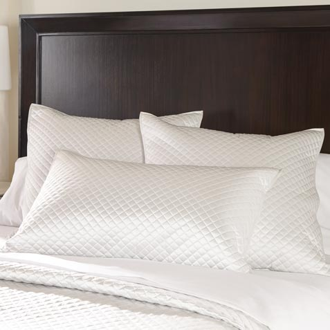 Salena Quilted Sham, Queen Pearl Product Thumbnail