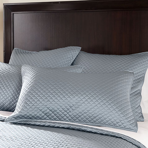 Salena Quilted Sham, Queen Mist Blue Product Thumbnail