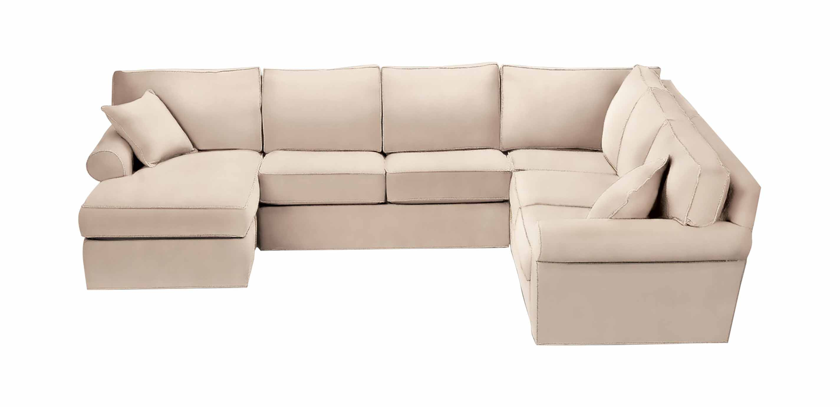 Retreat Roll-Arm Sectional with Chaise | Sectionals | Ethan ...
