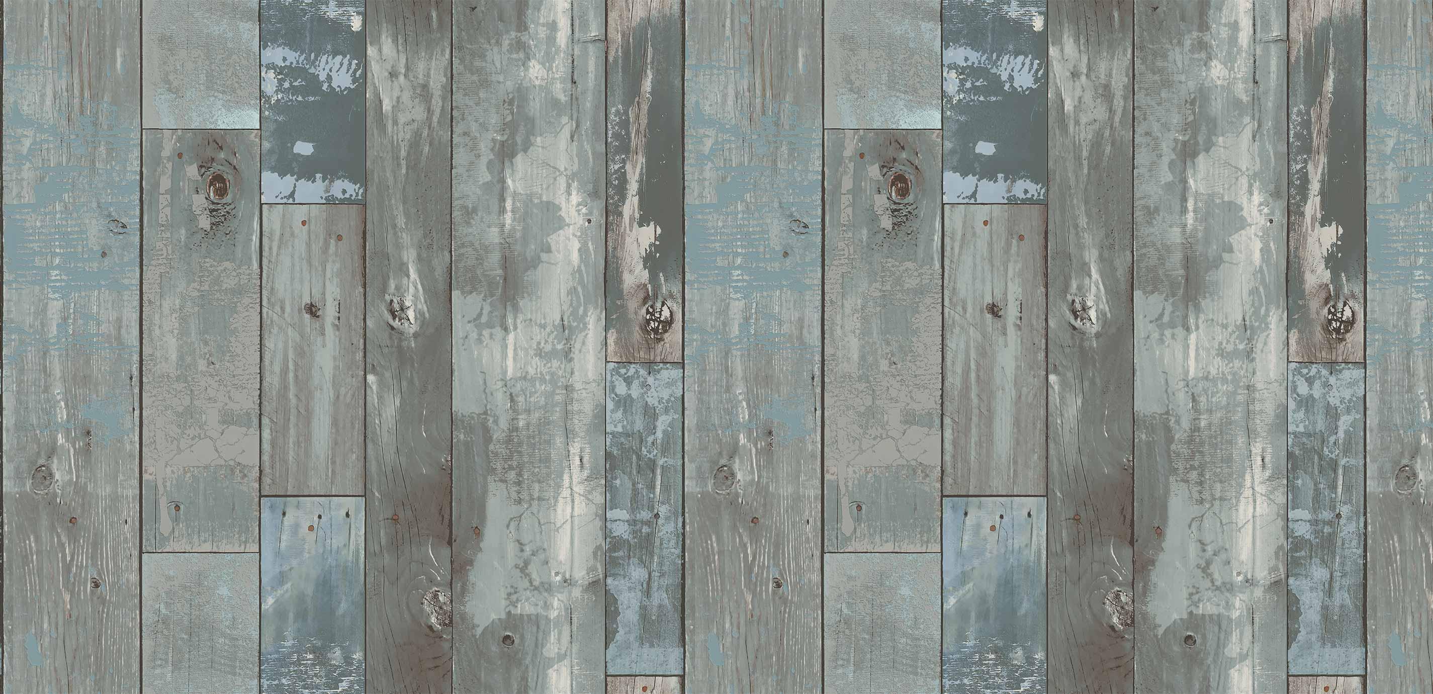 Deena Distressed Rustic Wood Plank