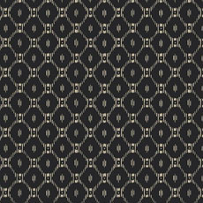 Black and gold Fretwork Ikat-Inspired Wallpaper