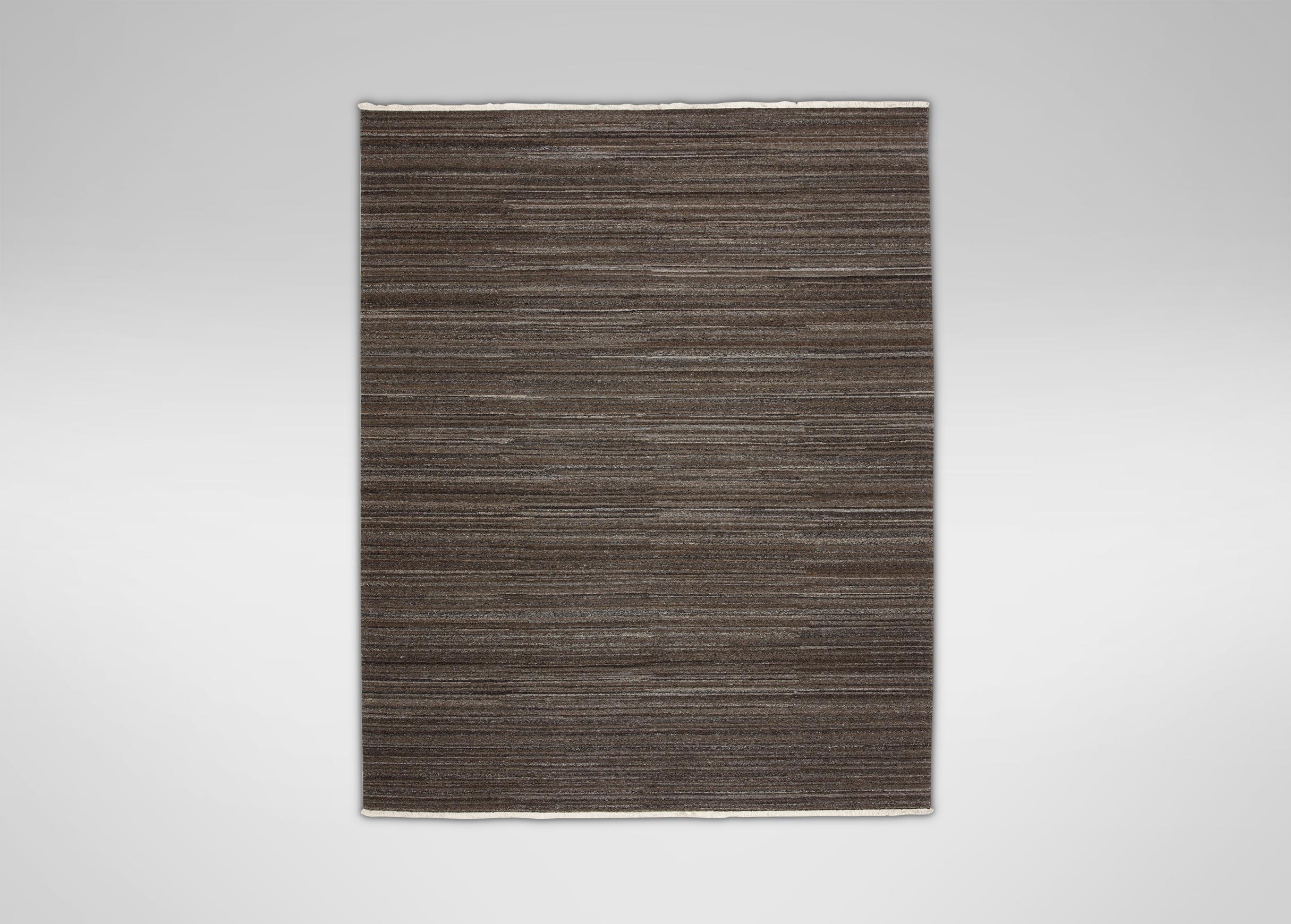 Images Wool Soumak Rug Dark Gray Large