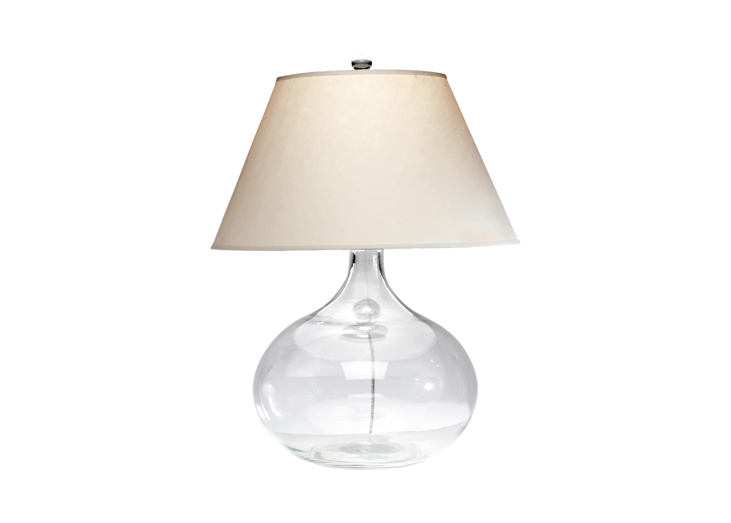 Clear Glass Table Lamp TABLE LAMPS