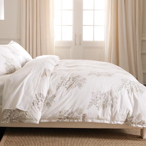 Blossom Block Printed Duvet Cover ,  , large