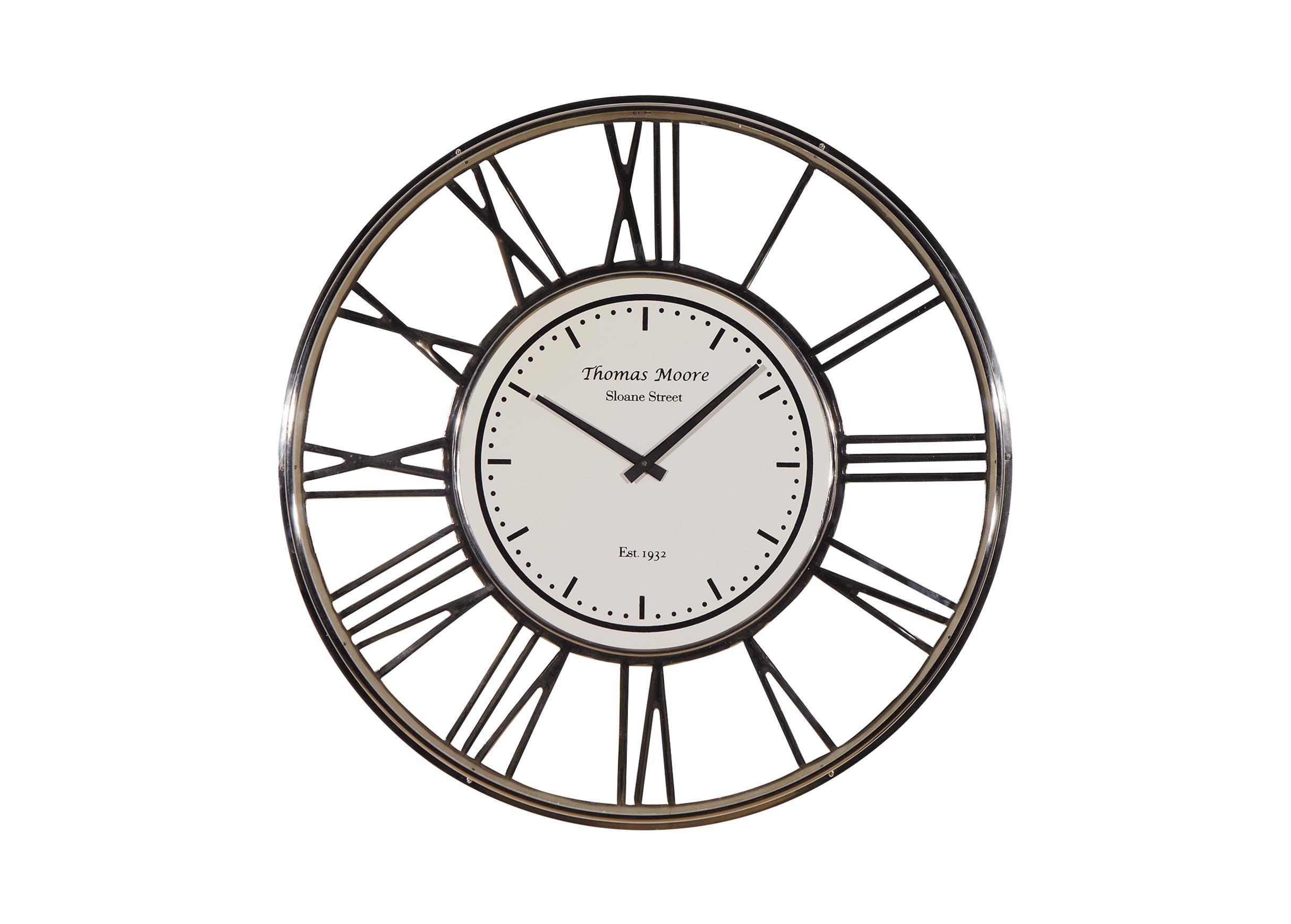 Large nickel wall clock clocks - Wall picture clock decoration ...