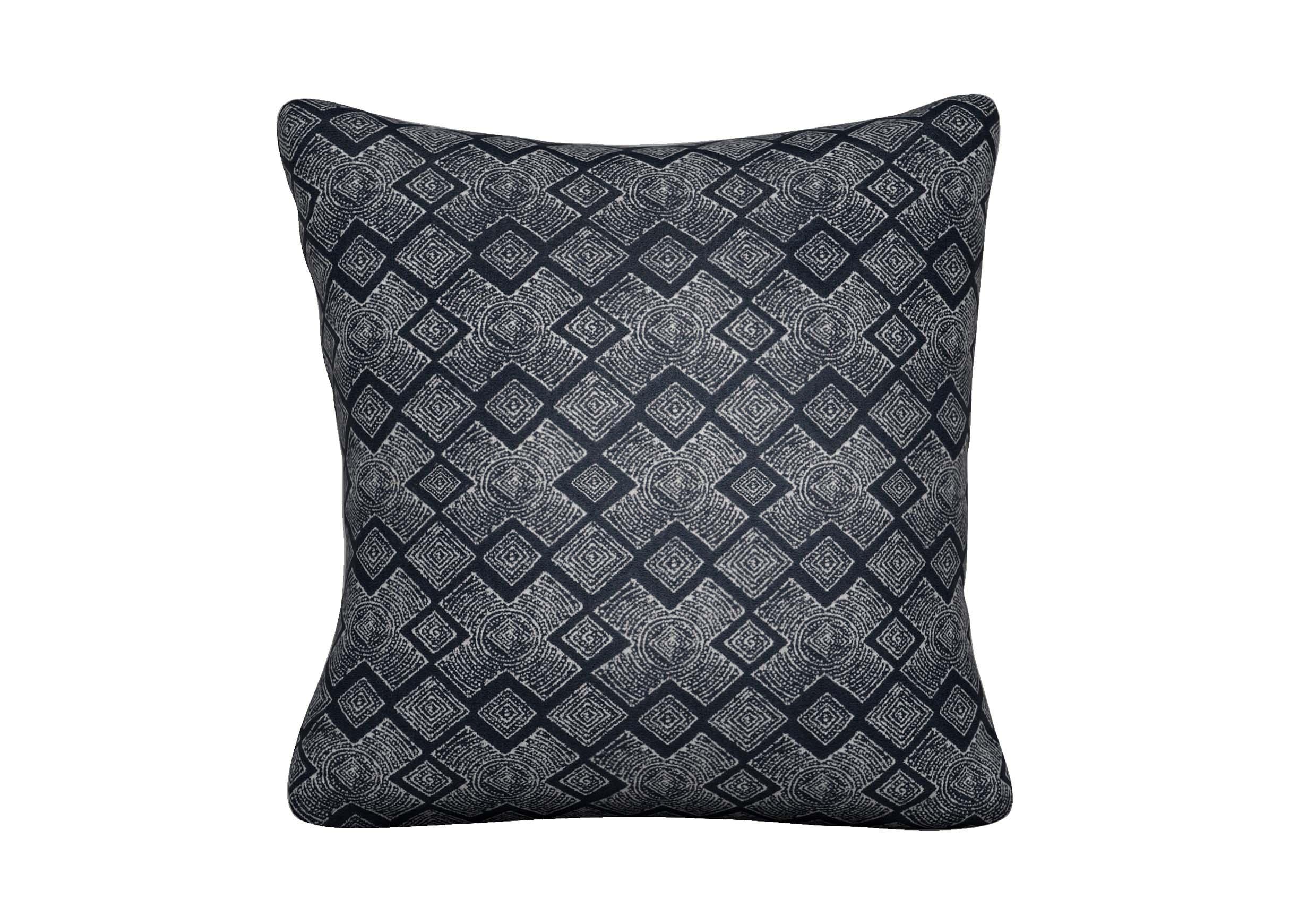 Distin Navy Outdoor Pillow