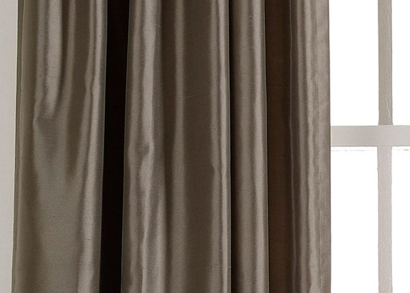 Pewter Satin Dupioni Fabric Drapery Fabric