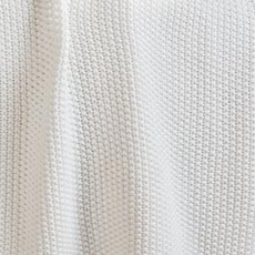 Ivory Moss Stitch Knit Throw