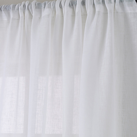 White Linen Sheer Fabric by the Yard ,  , large